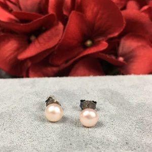 Jewelry - Pink Freshwater Pearl Sterling Silver Earrings